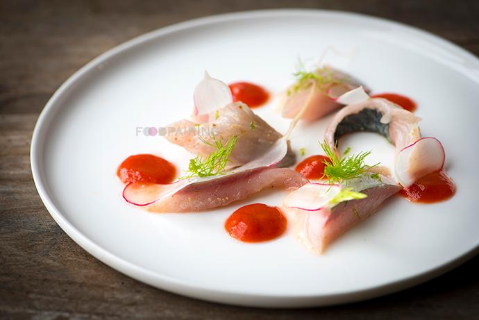 raspberry pairings and tomato and mackerel